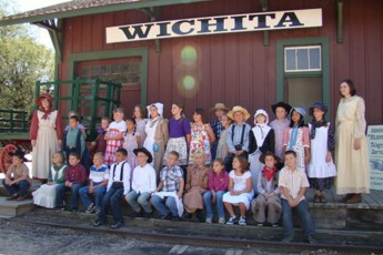 Inman Elementary 3rd Grade at Cow Town, Wichita, October 1, 2010.